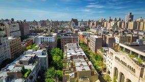Άποψη στεγών της Νέας Υόρκης Μανχάταν σε κεντρική συνοικία ημέρα Timelapse απόθεμα βίντεο
