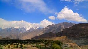 Άποψη στην αιχμή Rakaposhi, βουνά Karakorum, Πακιστάν Στοκ Εικόνα