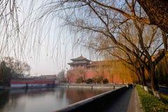 Άποψη στην απαγορευμένη πόλη Πεκίνο Κίνα Στοκ Εικόνες
