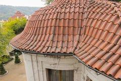 Άποψη στην επικεράμωση των στεγών στο κάστρο της Πράγας στοκ εικόνες