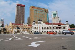 Άποψη στην οδό στη στο κέντρο της πόλης Κουάλα Λουμπούρ, Μαλαισία Στοκ Φωτογραφίες