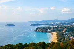 Άποψη στην παραλία Kata Noi, Kata και Karon Στοκ Φωτογραφία