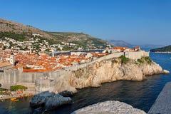Άποψη στην παλαιά πόλη Dubrovnik από το οχυρό Lovrijenac, Dubrovnik, Κροατία Στοκ Φωτογραφία