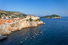 Άποψη στην παλαιά πόλη Dubrovnik από το οχυρό Lovrijenac, Dubrovnik, Κροατία Στοκ φωτογραφία με δικαίωμα ελεύθερης χρήσης