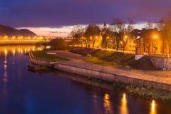 Kaunas από τη γέφυρα Aleksotas Στοκ εικόνες με δικαίωμα ελεύθερης χρήσης