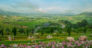 Άποψη στην περιοχή kho khao, περίοδος βροχών, Phetchabun, Ταϊλάνδη Στοκ Εικόνα