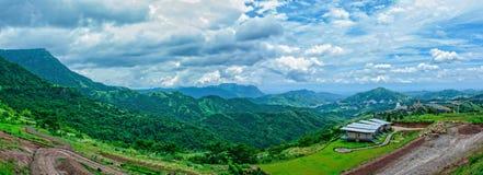 Άποψη στην περιοχή kho khao, περίοδος βροχών Phetchabun, Ταϊλάνδη Στοκ εικόνα με δικαίωμα ελεύθερης χρήσης