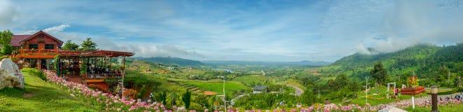 Άποψη στην περιοχή kho khao, περίοδος βροχών, Phetchabun, Ταϊλάνδη Στοκ εικόνες με δικαίωμα ελεύθερης χρήσης