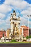 Άποψη στη Βαρκελώνη Placa de Espanya Στοκ Εικόνα