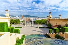 Άποψη στη Βαρκελώνη Placa de Espanya Στοκ φωτογραφία με δικαίωμα ελεύθερης χρήσης