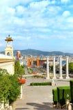 Άποψη στη Βαρκελώνη Placa de Espanya Στοκ εικόνες με δικαίωμα ελεύθερης χρήσης