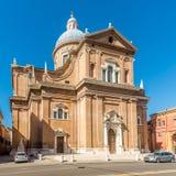Άποψη στη βασιλική Ghiara στις οδούς του Reggio Emilia στην Ιταλία στοκ φωτογραφίες