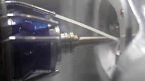 Άποψη στη διαδικασία χάραξης στην οδοντική μηχανή άλεσης απόθεμα βίντεο
