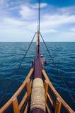 Άποψη στη θάλασσα από τον μπροστινό ιστό Στοκ φωτογραφίες με δικαίωμα ελεύθερης χρήσης