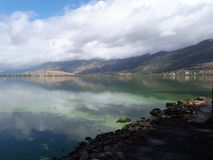 Άποψη στη λίμνη των Ιωαννίνων, Ελλάδα Στοκ Φωτογραφίες