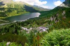 Άποψη στη μαύρη λίμνη από Tatras Στοκ εικόνα με δικαίωμα ελεύθερης χρήσης