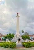 Άποψη στη στήλη που αφιερώνεται στο στρατό απελευθέρωσης της Κούβας Στοκ Εικόνα