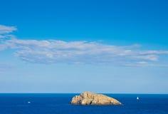Άποψη στις βάρκες στον κόλπο Monte Argentario Στοκ Φωτογραφία