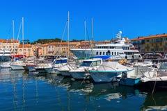 Άποψη στο λιμάνι Αγίου Tropez, Γαλλία Στοκ φωτογραφία με δικαίωμα ελεύθερης χρήσης