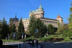Άποψη στο κάστρο Bojnice στοκ εικόνες