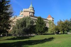 Άποψη στο κάστρο Bojnice στοκ φωτογραφίες