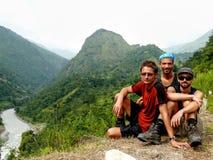 Άποψη στο κύκλωμα Bahundanda - Annapurna - Νεπάλ Στοκ φωτογραφία με δικαίωμα ελεύθερης χρήσης