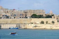 Άποψη στο Λα Valletta, η πρωτεύουσα της Μάλτας Στοκ Φωτογραφίες