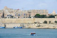 Άποψη στο Λα Valletta, η πρωτεύουσα της Μάλτας Στοκ φωτογραφία με δικαίωμα ελεύθερης χρήσης