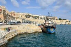 Άποψη στο Λα Valletta, η πρωτεύουσα της Μάλτας Στοκ Φωτογραφία