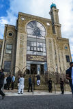 Άποψη στο μουσουλμανικό τέμενος μετά από την επίσκεψη του Jeremy Corbyn Στοκ φωτογραφίες με δικαίωμα ελεύθερης χρήσης