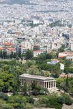 Άποψη στο ναό Hephaestus, Αθήνα, Ελλάδα, Ευρώπη στοκ εικόνα με δικαίωμα ελεύθερης χρήσης