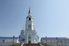 Άποψη στο ναό Kazan του εικονιδίου της μητέρας του Θεού στο Σαράνσκ, Repulic Μορντβά Στοκ εικόνα με δικαίωμα ελεύθερης χρήσης