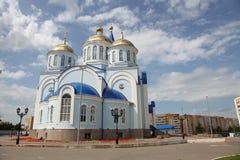 Άποψη στο ναό Kazan του εικονιδίου της μητέρας του Θεού στο Σαράνσκ, Repulic Μορντβά Στοκ Εικόνες