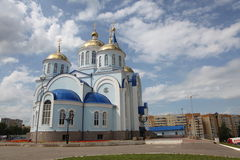 Άποψη στο ναό Kazan του εικονιδίου της μητέρας του Θεού στο Σαράνσκ, Repulic Μορντβά Στοκ φωτογραφίες με δικαίωμα ελεύθερης χρήσης