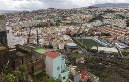 Άποψη στο νότο πέρα από την πόλη Santa Cruz Tenerife Στοκ φωτογραφία με δικαίωμα ελεύθερης χρήσης