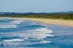 Άποψη στο νότο του κεφαλιού Fingal, Νότια Νέα Ουαλία στοκ φωτογραφίες