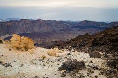 Άποψη στο νότο του νησιού και του Ατλαντικού Ωκεανού από το ηφαίστειο Teide Κανάριο νησί Στοκ Εικόνα