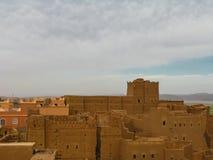 Άποψη στο παλαιό aka Taourirt πόλεων Ouarzazate kasbah, Μαρόκο Στοκ φωτογραφίες με δικαίωμα ελεύθερης χρήσης