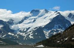 Άποψη στο υποστήριγμα Athabasca από την κοιλάδα Sunwapta στοκ φωτογραφία με δικαίωμα ελεύθερης χρήσης