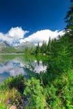 Άποψη στο pleso Strbske σε υψηλό Tatras κατά τη διάρκεια του καλοκαιριού, Σλοβακία, ΕΕ Στοκ Φωτογραφίες