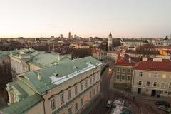Vilnius από το πανεπιστήμιο Στοκ Φωτογραφία