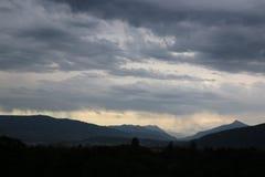 Άποψη σχετικά με τα βουνά Alpes Στοκ Εικόνες