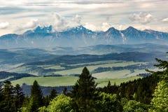 Άποψη σχετικά με τα βουνά Tatra Στοκ Εικόνες