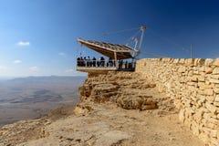Άποψη σχετικά με την έρημο του Negev στον mizpe-Ramon, Ισραήλ Στοκ φωτογραφία με δικαίωμα ελεύθερης χρήσης