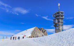Άποψη σχετικά με την κορυφή του όρους Rigi Titlis Στοκ Εικόνες