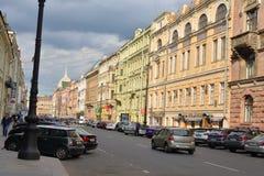 Άποψη σχετικά με την οδό Bolshaya Morskaya Στοκ Φωτογραφίες
