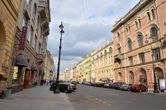 Άποψη σχετικά με την οδό Bolshaya Morskaya Στοκ εικόνες με δικαίωμα ελεύθερης χρήσης