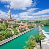 Άποψη σχετικά με την παλαιά πόλη της Βέρνης, πρωτεύουσα της Ελβετίας Στοκ εικόνες με δικαίωμα ελεύθερης χρήσης