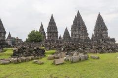 Άποψη σχετικά με την περιοχή ναών Prambanan στοκ εικόνες με δικαίωμα ελεύθερης χρήσης