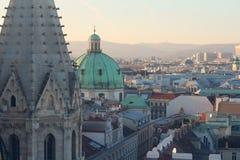 Άποψη σχετικά με την πόλη της Βιέννης Στοκ εικόνες με δικαίωμα ελεύθερης χρήσης